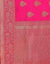 Handloom Silk Saree With All-Over Zari Floral Booti By Meena Bazaar