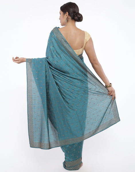Art Dupion Silk Saree With Embroidery