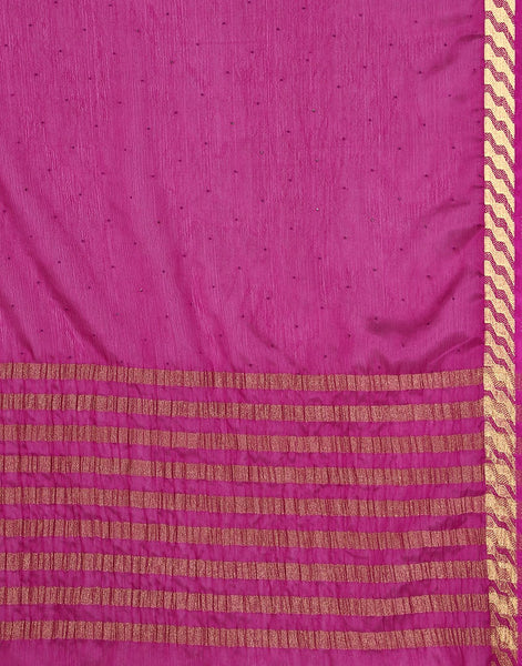 Purple Art Crepe Saree