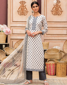 Cotton Printed Suit Set Chiffon Digital Print Dupatta