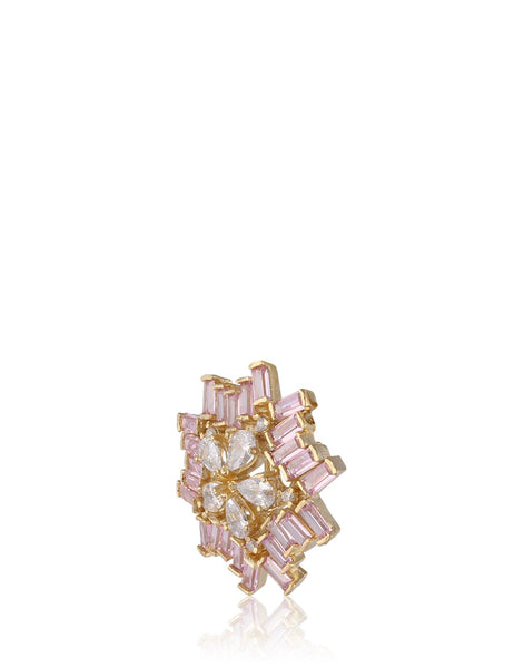 Meena Bazaar: Geometrical Flower Statement Earrings