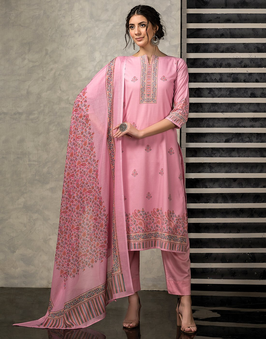 Cotton Kanni Printed Suit Set