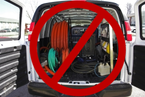 No truckmount system needed for carpet cleaning business