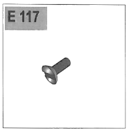 Part E-117 (Oval Head Phillips Screw, M5x12mm)