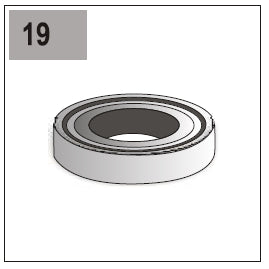 Part E/G-19L (Stainless Steel Ball Bearing 6003)