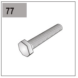 Part E/G-77 (Protective Plate Screw)