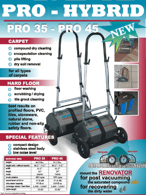 Pro Hybrid 35 CRB (Counter Rotating Brush) Machine