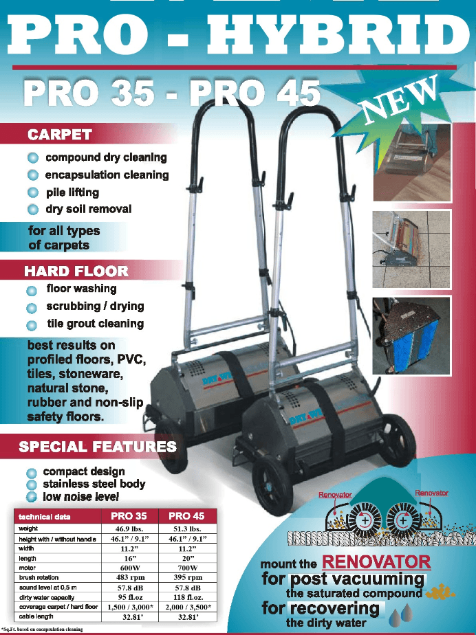 Pro Hybrid 45 Crb Counter Rotating Brush Machine Smart