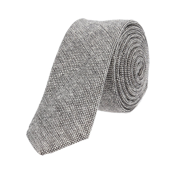 Corbata Royal Flush jaspeada color gris lisa poliéster