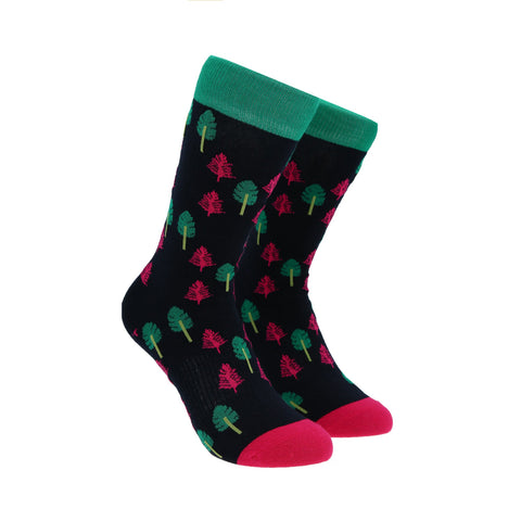 Calcetines Royal Flush de pinos verdes y rosas