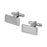Mancuernillas Royal Flush rectangular plata lisa acero