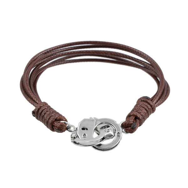 Pulsera Royal Flush café broche tipo esposas