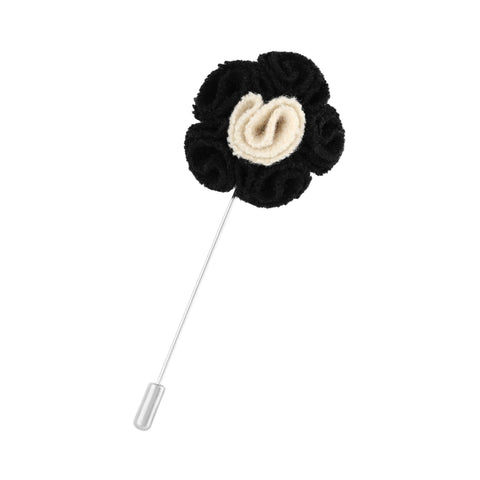 Pin Royal Flush floral negro con beige