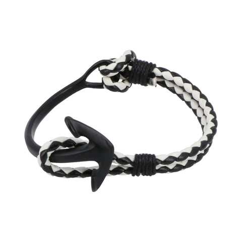 Pulsera Royal Flush ancla negra