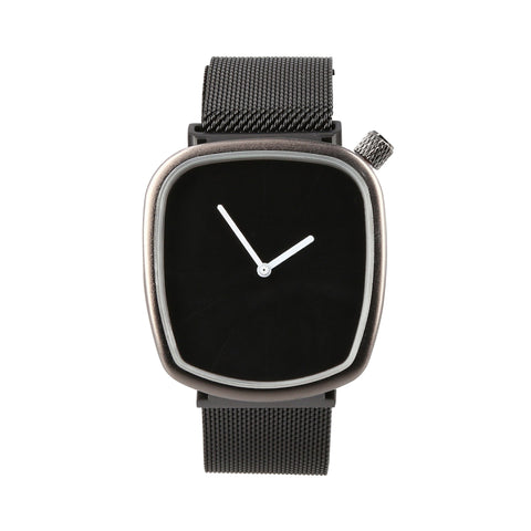 Reloj Royal Flush de correa ajustable metálica color negro