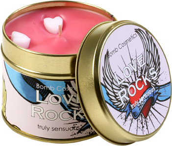 Bomb Cosmetics Gift Sets Love Rocks Tin Candle