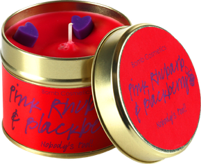 Bomb Cosmetics Gift Sets Pink Rhubarb & Blackberry Tin Candle