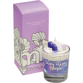 Bomb Cosmetics Shiny Happy Purple Piped Candle