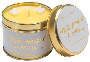 Bomb Cosmetics White Amber & Musk Tin Candle