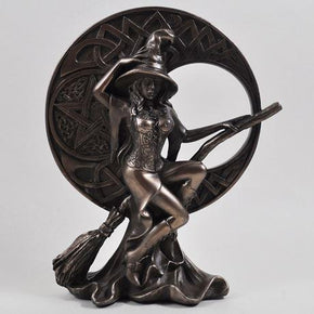 Fiesta Studio Bronze Witch With Celtic Moon