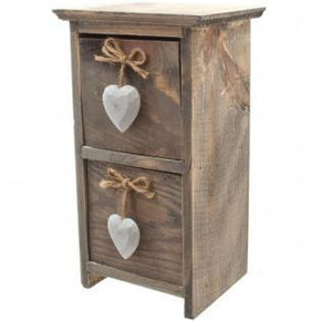 Love Luscious Home Gifts Mini white heart drawers