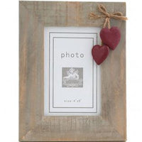 Love Luscious Home Gifts Red heart driftwood photo frame
