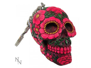 Nemesis Now Sugar Blossom Day of the Dead Keyring