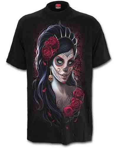 Spiral Direct Spiral DAY OF THE DEAD Ladies T-Shirt