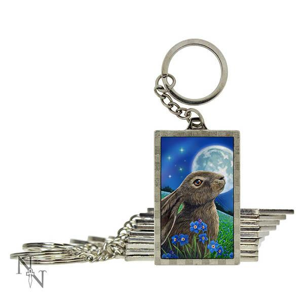 Spirit Earth 3d Moon Gazing Hare Keyring
