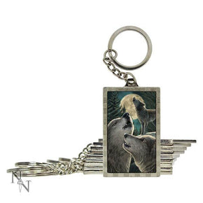Spirit Earth 3d Wolf Song Keyring