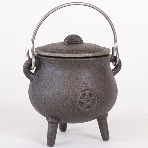 Spirit Earth 9cm Cauldron with Pentagram