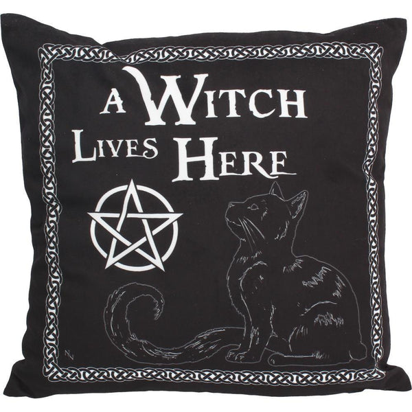 Spirit Earth A Witch Lives Here Cushion