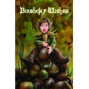 Spirit Earth Acorn Pixie Greeting Card