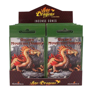 Spirit Earth Age of Dragons Golden Mountain Dragon Incense Cones