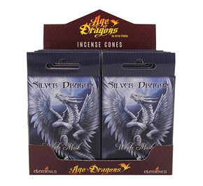 Spirit Earth Age of Dragons Silver Dragon Incense Cones