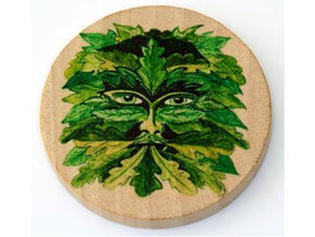 Spirit Earth Altar Wooden Tile - Green Man