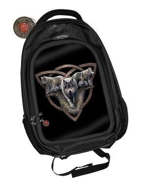 Spirit Earth Anne Stokes 3D Backpack - Wolf Trio