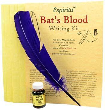 Spirit Earth Bats Blood Writing Kit