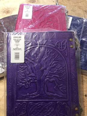 Spirit Earth Brown Tree of Life Leather Journal