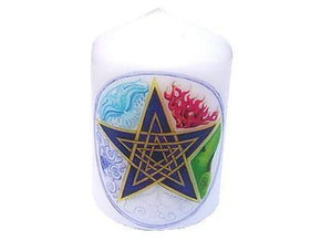 Spirit Earth Candle Pentagram Elements Candle 8cm