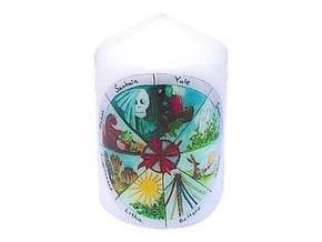 Spirit Earth Candle Wheel of the Year Candle 8cm