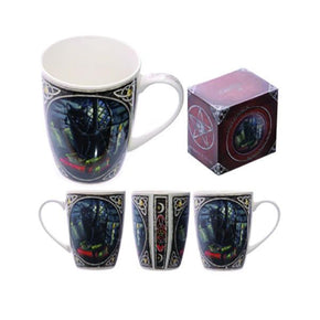 Spirit Earth Cat on Books Mug