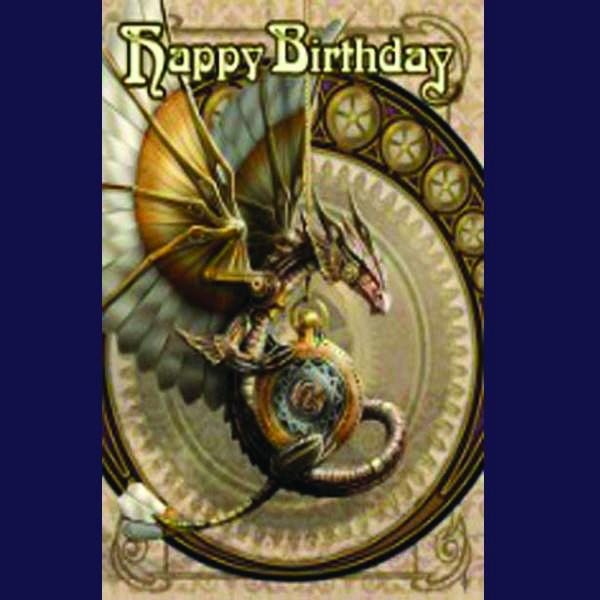 Spirit Earth Clockwork Dragon Greeting Card