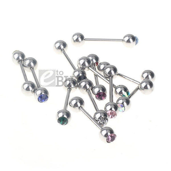 Spirit Earth Crystal BarBell Tongue Bar