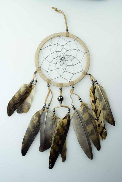 Spirit Earth Dream Catcher Brown 11.5cm
