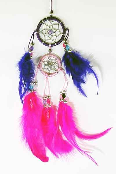 Spirit Earth Dream Catcher Double Pink & Purple