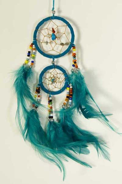Spirit Earth Dream Catcher Double Turquoise
