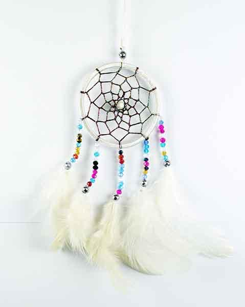 Spirit Earth Dream Catcher White 6cm