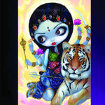 Spirit Earth Durga & the Tiger Greeting Card