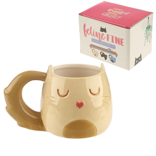 Spirit Earth Feline Fine Cream Cat Mug